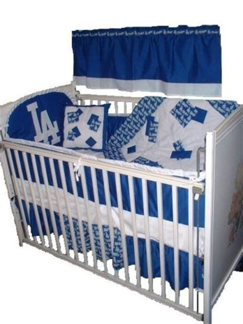 dodgers bed set baby nursery crib bedding set w la dodgers fabric kid