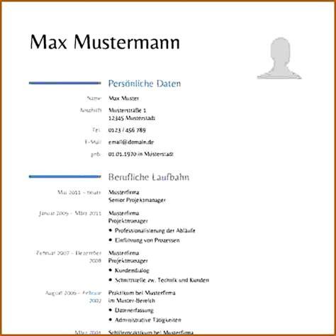 Tabellarischer Lebenslauf Muster Word by 20 Tabellarischer Lebenslauf Vorlage Word Vorlagen123