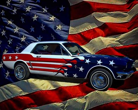 american flag truck ford mustang american flag version paint red white
