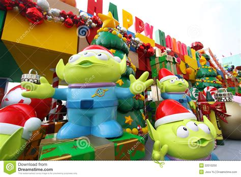 toy story christmas decorations in hong kong editorial