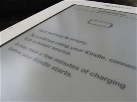 resetting kindle battery kindle critical battery error how to reset and charge