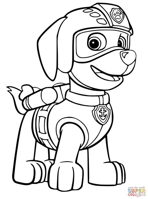 zuma s air rescue uniform coloring page free printable