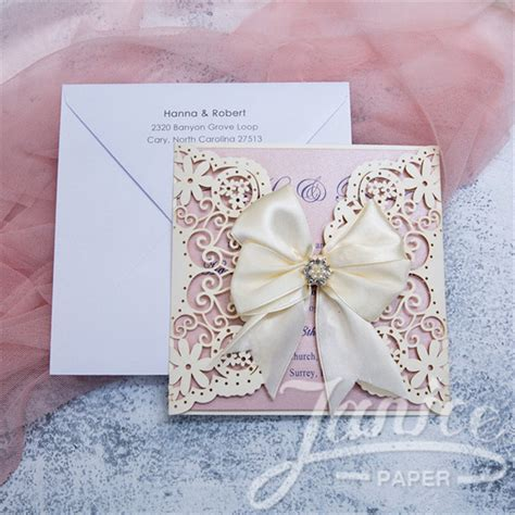 Cheap Wedding Invitations In by Wholesale Cheap Laser Cut Lace Wedding Invitations Wpl0042
