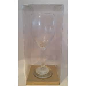 Wine Glass Gift Packaging Clear Acetate Wine Glass Gift Box For Wine Glass Select Size
