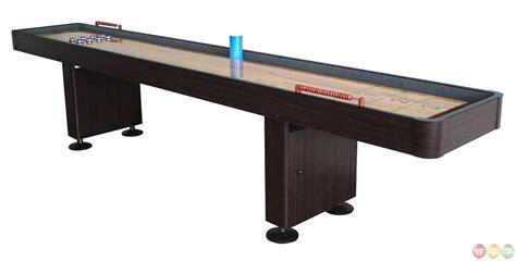 Shuffleboard 14 Foot Dark Cherry Finish Game Table 14 Shuffleboard Table