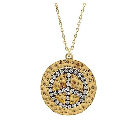 Sale S026 s026 gold plated 925 silver peace pendant