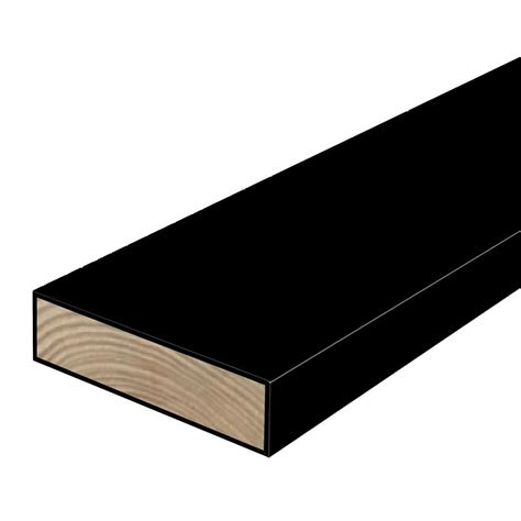 woodguard 2 in x 6 in x 8 ft 2 polymer coated black