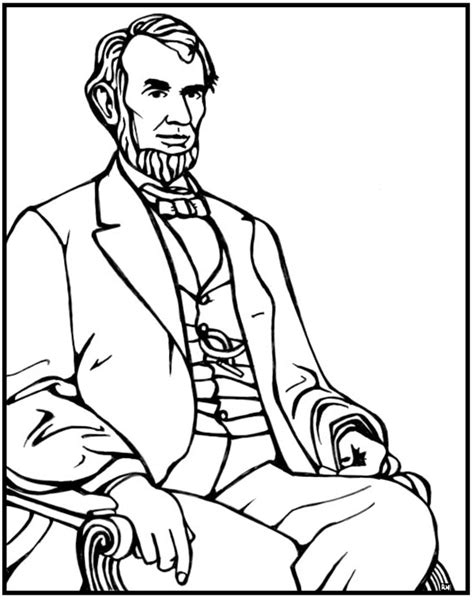 abraham lincoln coloring page purple kitty