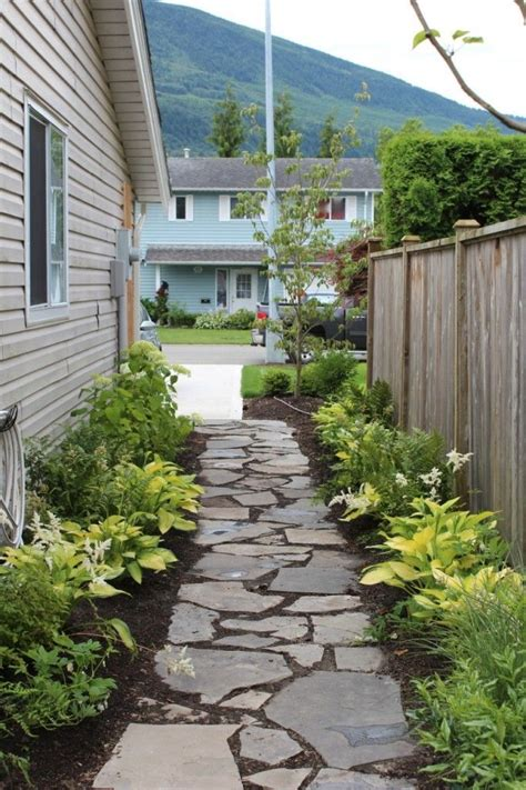 landscaping ideas for the side of the house lovely walk way 12 beautiful yellow hostas along with white astible and bleeding hearts white
