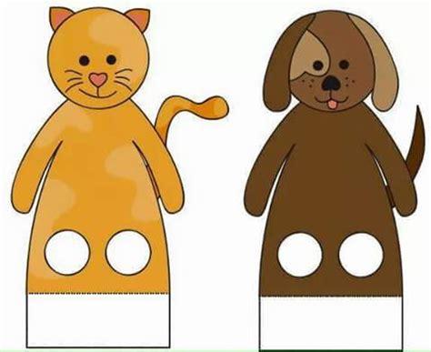 finger puppet worksheets dog and cat « funnycrafts