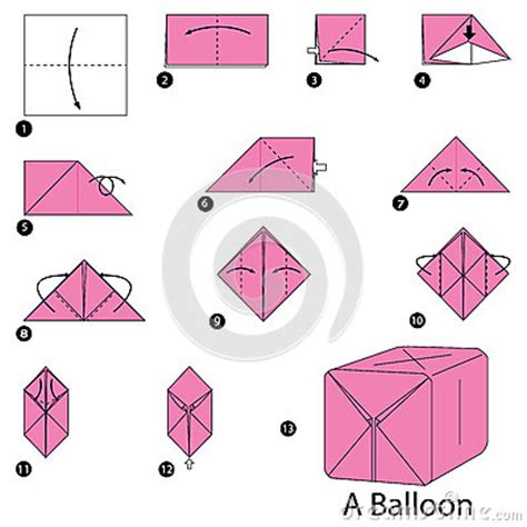 How Do You Make A Paper Balloon - step by step how to make origami a balloon