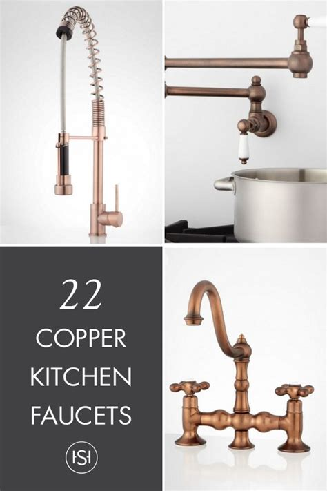 copper kitchen sink faucets best 25 copper kitchen faucets ideas on