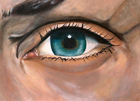 acrylic painting eye study acrylic paint on mixed media on sva