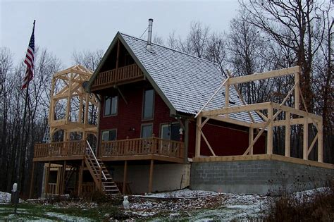 Lake Cottage Plans With Loft Finger Lakes Cottage Addition Timber Frame Case Study