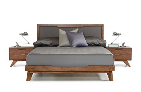 walnut bed nova domus soria mid century grey walnut bed modern
