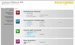 configurare porte fastweb configurare il modem router fastweb technicolor