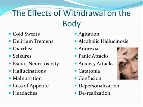 Cold Sweats Detox chemical dependency powerpoint powerpoint 2010
