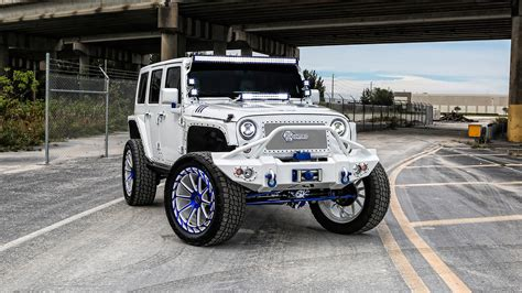 crashed white jeep wrangler mc customs aces high jeeps