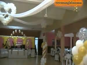 Decoracion para boda bautizo decoraciones con globos video clip