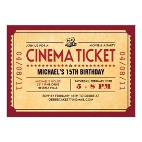 9 best Film invitations images on Pinterest   Invitation