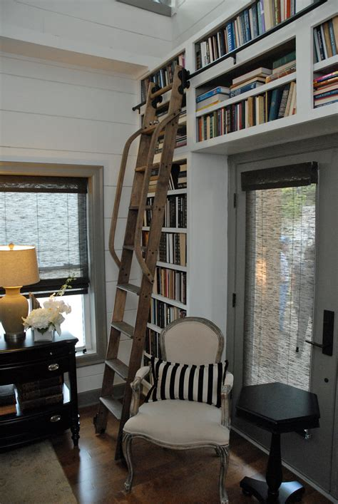 clever ways    rolling library ladder