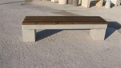 panchina cemento panca a cavalletto in legno e cemento pastore