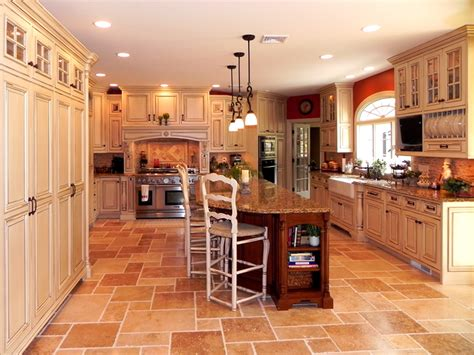 Over Island Kitchen Lighting by Tuscan Inspired Kitchen Cabinets By Graber