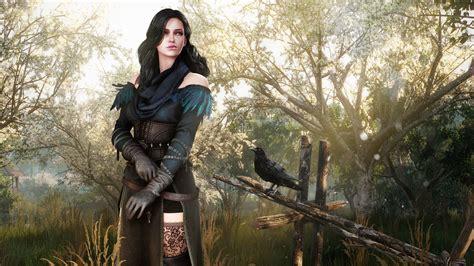 full hd wallpaper  witcher  dress yennefer raven