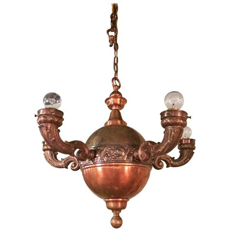 Copper Chandelier Arts And Crafts Brass And Copper Pendant Chandelier For