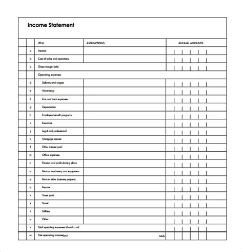 7 Free Income Statement Templates Excel Pdf Formats Free Earnings Statement Template