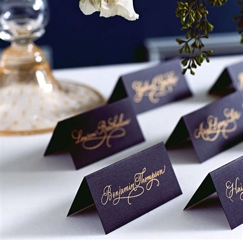 gold themes name black n gold place cards gatton prom ideas pinterest