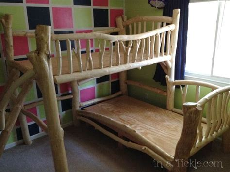 awesome homemade tree house bunk beds   put