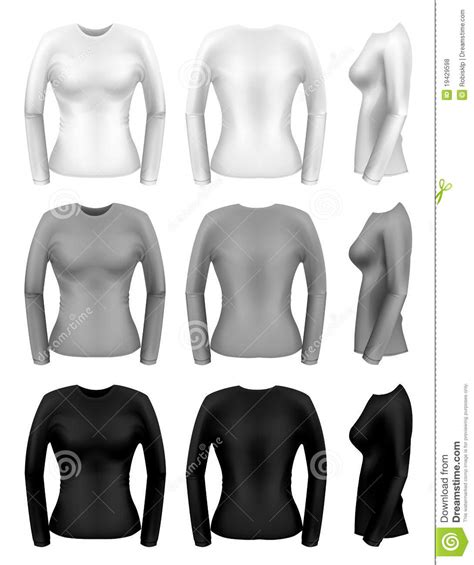 women long sleeve t shirts royalty free stock photos
