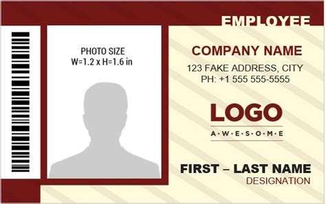 Banker S Photo Id Badge Templates For Ms Word Word Excel Templates Photo Id Badge Template