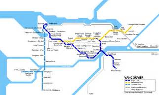 Vancouver Subway Map by Urbanrail Net Gt North America Gt Canada Gt British Columbia