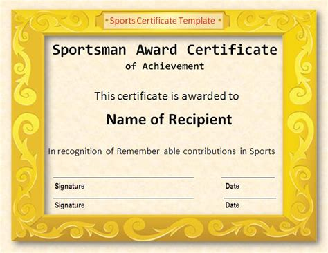 sports certificate template sports certificate in pdf certificate of appreciation