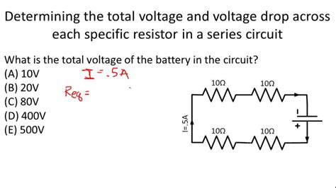 voltage drop across each resistor ohm s problems for series circuits exle 1