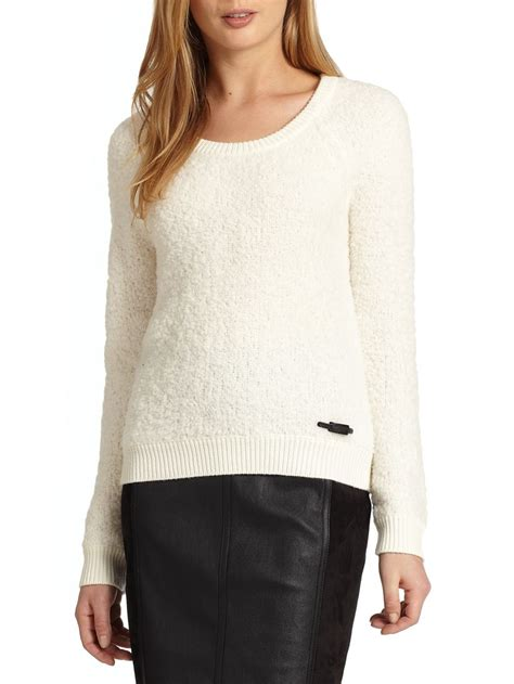 Teddy Sweater burberry brit teddy sweater in white lyst