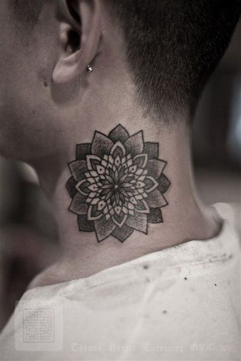 neck tattoo s 24 elegant mandala neck tattoos