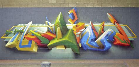 Banksy Wall Mural evolution of daim s 3d style daim graffiti art