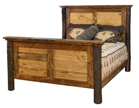 rustic bed amish wildwood rustic wood panel bed