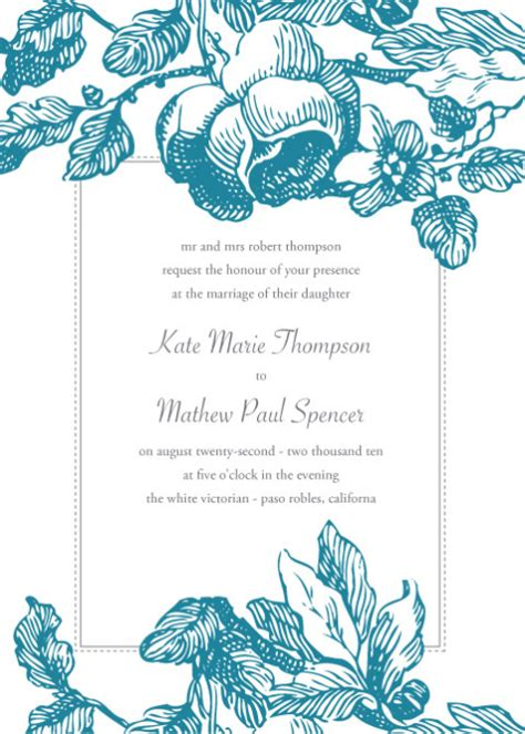 wedding invitations templates free for word free wedding invitation card templates