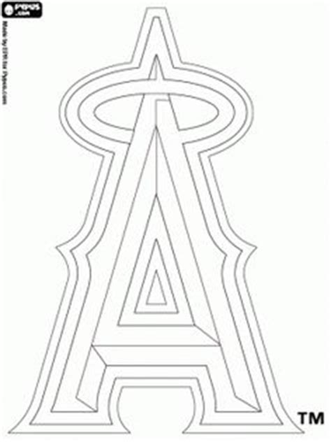 angels baseball coloring page los angeles angels of anahiem on pinterest angels