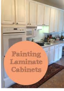 Painting Wood Laminate Kitchen Cabinets by The Ragged Wren Painting Laminated Cabinets
