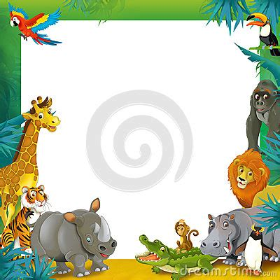 Cartoon Safari - Jungle - Frame Border Template ... Free Clipart On The Web