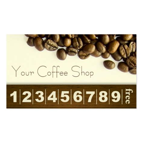 coffee beans coffee business loyalty card business