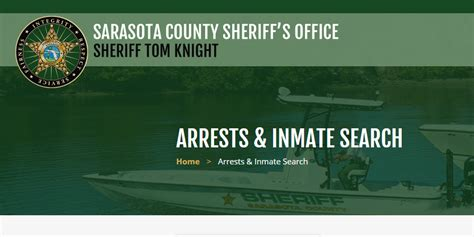 Sarasota County Search Free Inmate Arrest Record Check Search