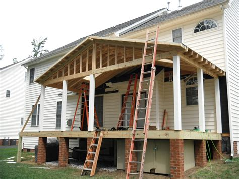 Porch Roof Construction Maintenance Free Screen Porch And Deck In Henrico Co Now
