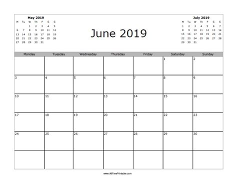 june  calendar  printable allfreeprintablecom
