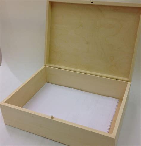 Souvenir Box unpainted wooden box souvenir a4 size memory box